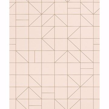 Picture of Teague Light Pink Geometric Wallpaper
