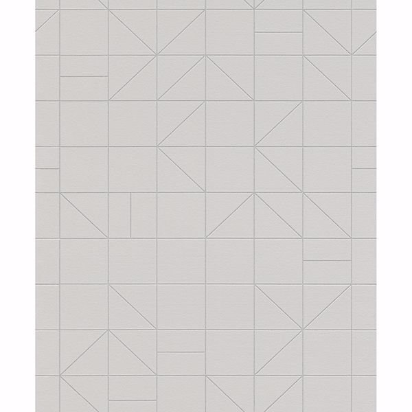 Picture of Teague Silver Geometric Wallpaper