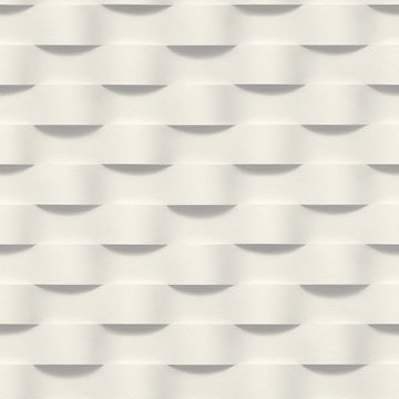 Picture of Clarice Grey Geometric Ripple Wallpaper