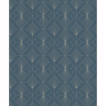 Picture of Henri Dark Green Geometric Wallpaper