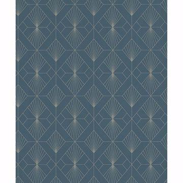 Picture of Henri Dark Green Geometric Wallpaper