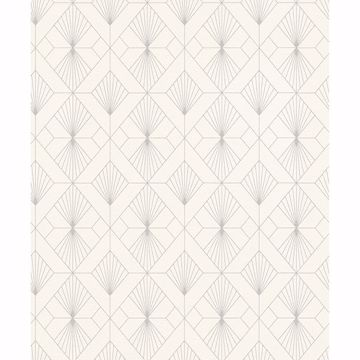 Picture of Henri Off-White Geometric Wallpaper