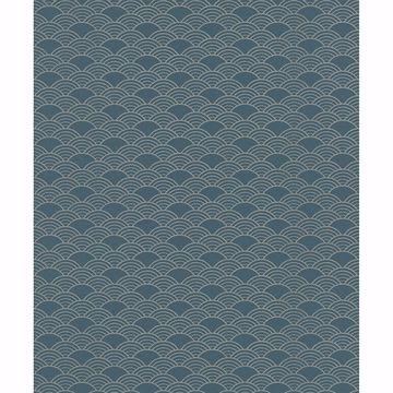Picture of Rapin Dark Green Wave Wallpaper