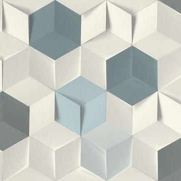 Picture of Catteau Multicolor Cube Wallpaper