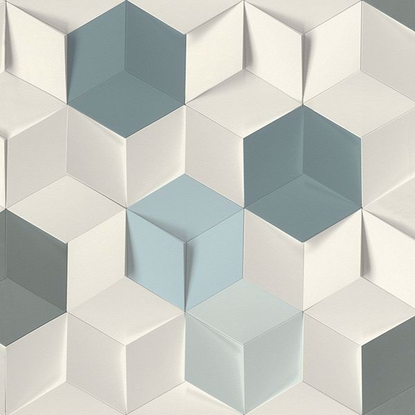 Picture of Catteau Multicolor Cube Wallpaper