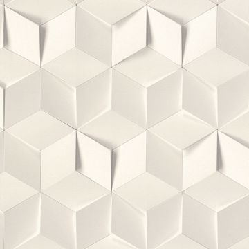 Picture of Catteau Off-White Cube Wallpaper