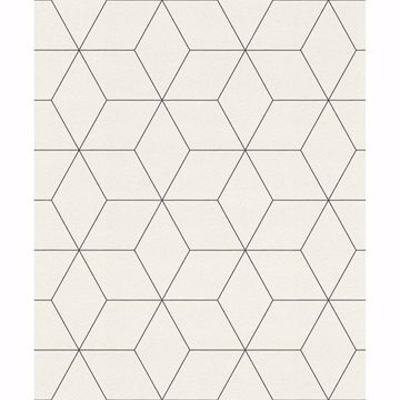 Picture of Lloyd Off-White Geometric Wallpaper