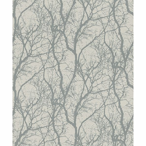 Picture of Wiwen Grey Tree Wallpaper