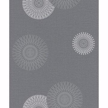Picture of Eliel Grey Medallion Wallpaper