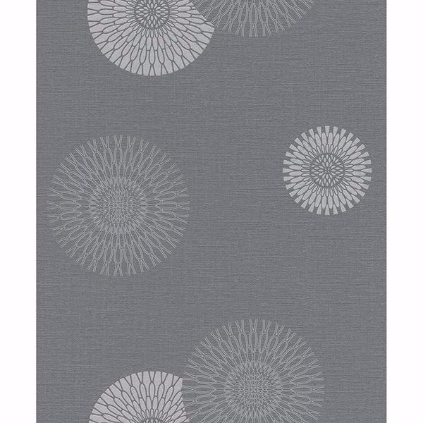 Picture of Eliel Grey Medallion Wallpaper