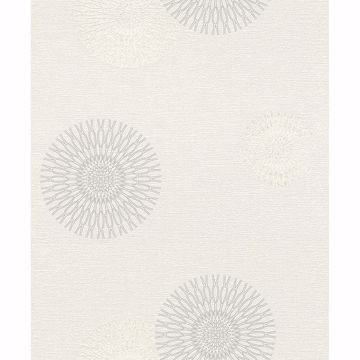 Picture of Eliel Off-White Medallion Wallpaper