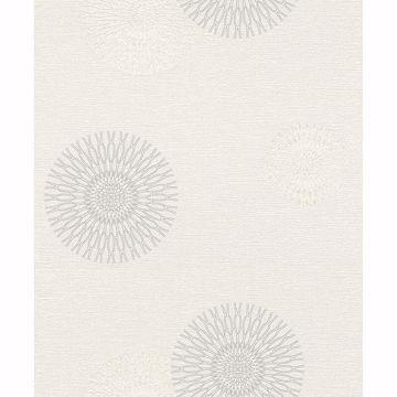 Picture of Eliel Off-White Medallion Wallpaper