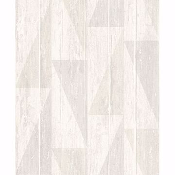 Picture of Nilsson White Geometric Wood Wallpaper