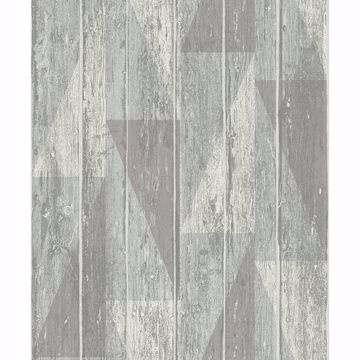 Picture of Nilsson Sage Geometric Wood Wallpaper