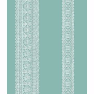 Picture of Brynn Turquoise Paisley Stripe Wallpaper