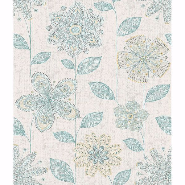 Picture of Maisie Teal Batik Flower