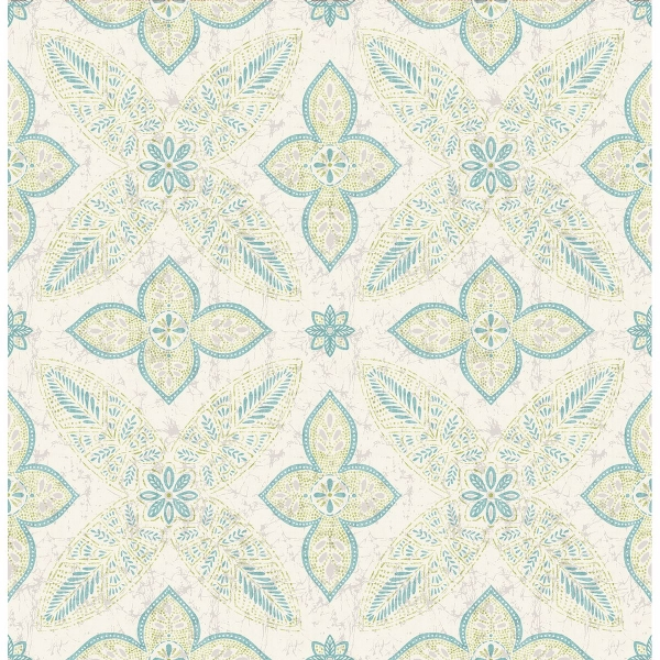 Picture of Off Beat Ethnic Turquoise Geometric Floral