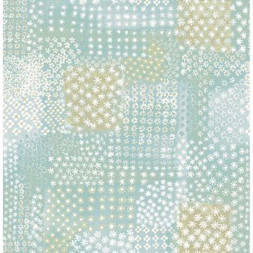 Picture of Flower Power Turquoise Patchwork