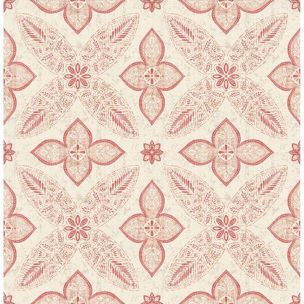 Picture of Off Beat Ethnic Red Geometric Floral
