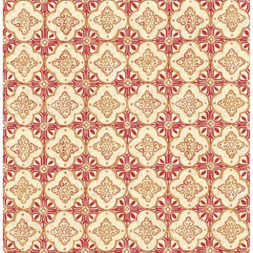 Picture of Geo Red Quatrefoil