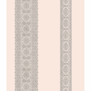 Picture of Brynn Grey Paisley Stripe Wallpaper