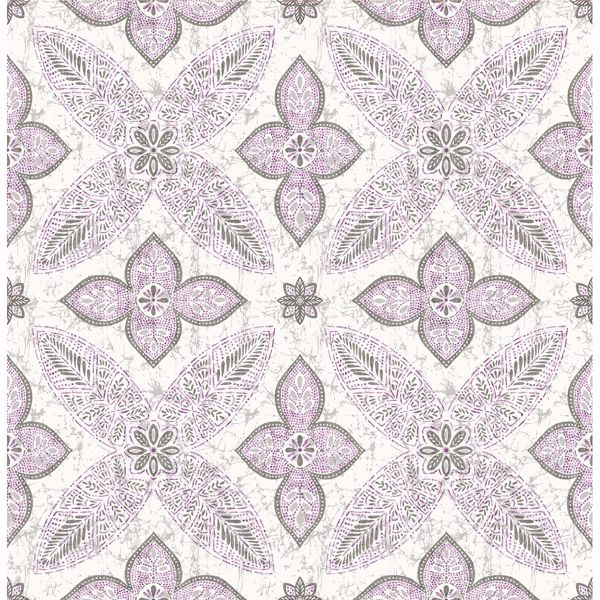 Picture of Off Beat Ethnic Violet Geometric Floral