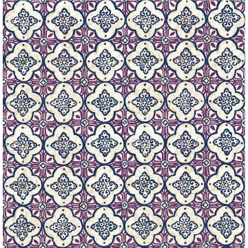 Picture of Geo Violet Quatrefoil