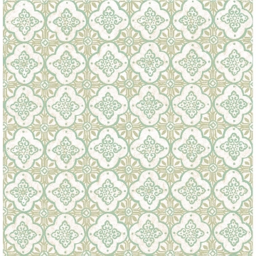 Picture of Geo Green Quatrefoil