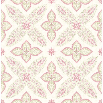 Picture of Off Beat Ethnic Pink Geometric Floral