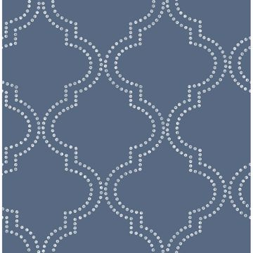 Picture of Tetra Blue Quatrefoil