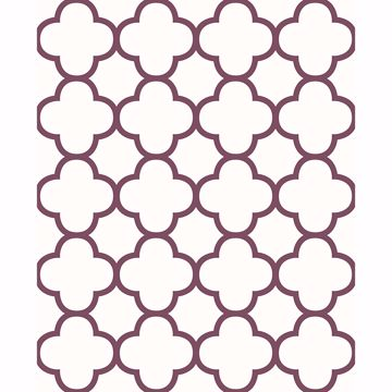 Picture of Origin Burgundy Quatrefoil