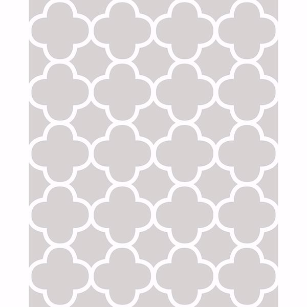 Picture of Origin Grey Quatrefoil
