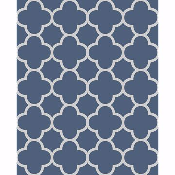 Picture of Origin Blue Quatrefoil