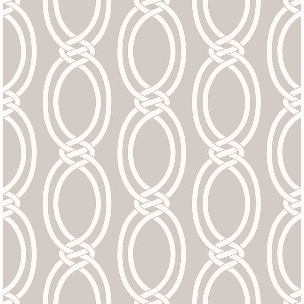 Picture of Infinity Taupe Geometric Stripe