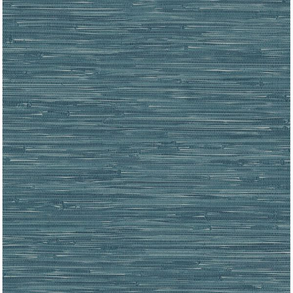 Picture of Natalie Teal Faux Grasscloth
