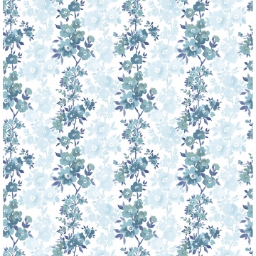 Picture of Charlise Blue Floral Stripe