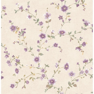 Picture of Delphine Plum Floral Trail