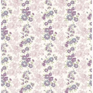Picture of Charlise Plum Floral Stripe
