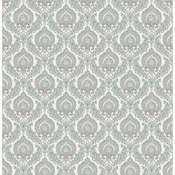 Picture of Lulu Dark Green Damask