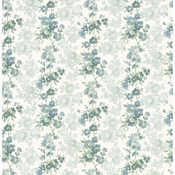 Picture of Charlise Teal Floral Stripe