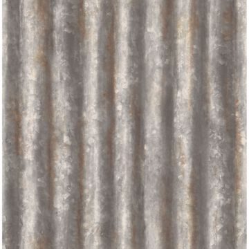 Picture of Corrugated Metal Charcoal Industrial Texture