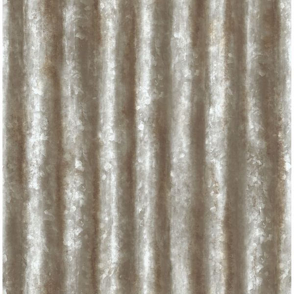 Picture of Corrugated Metal Grey Industrial Texture