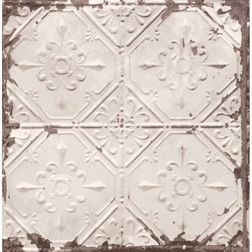 Picture of Tin Ceiling Beige Distressed Tiles