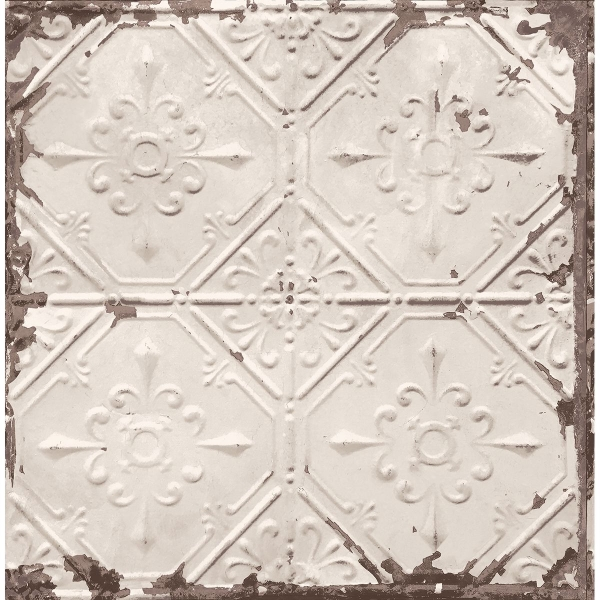 Distressed Tiles Beige Tin Ceiling