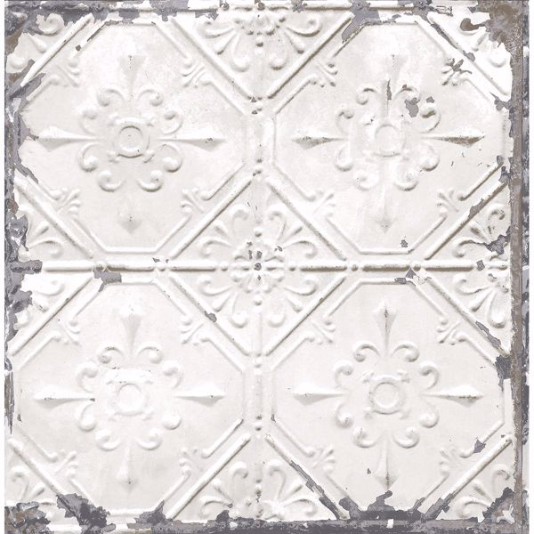 Picture of Tin Ceiling White Distressed Tiles