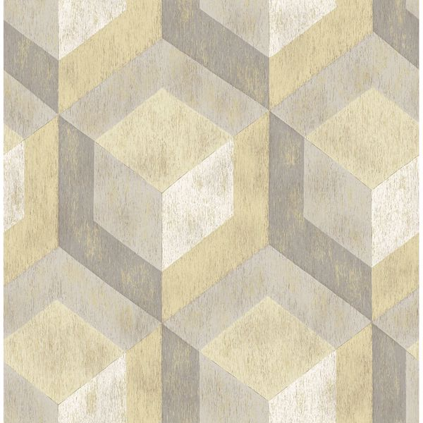 Picture of Rustic Wood Tile Honey Geometric