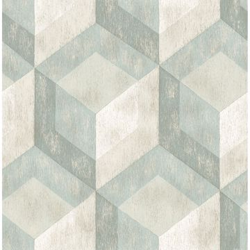 Picture of Rustic Wood Tile Green Geometric