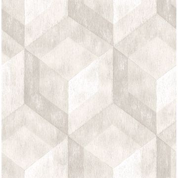 Picture of Rustic Wood Tile Cream Geometric