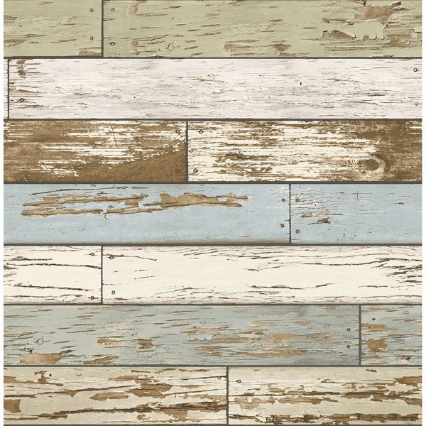 Picture of Scrap Wood Sky Blue Weathered Texture