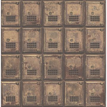 Picture of Vintage P.O. Boxes Rust Distressed Metal